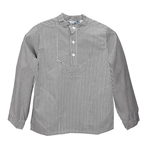 AS Bekleidungswerk GmbH Modas Sommer Kinder Fischerhemd Langarm, Größe:116, Farbe:Marine/weiß