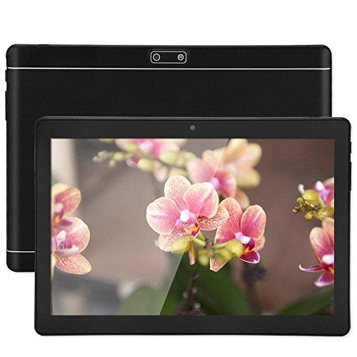 10-Zoll-Tablet-PC, Dual-Kamera 1 GB RAM + 16 GB ROM 3G WiFi-Tablet, Erweiterungsspeicher 32 GB, Full HD 1280 x 800, für Android - EU-Stecker(Schwarz)