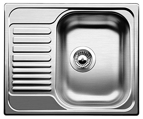 Blanco Tipo 45 S Mini Edelstahl-Spüle, Becken reversibel für 45 cm Unterschrank, Bürstfinish, silber, 516053