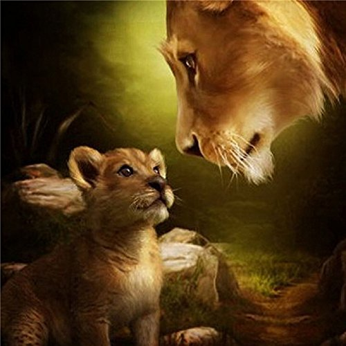 5D Diamond Painting Cross Stitch Kits DIY Handmade Embroidery Painting Rhinestone Cross-Stitching Set Mosaic Home Room Decoration Lions