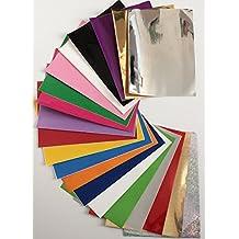 d-c-fix® - Fogli autoadesivi multicolori, formato A4, lucidi e opachi