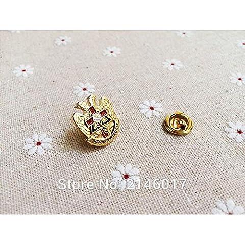 Nuovi 10pcs muratura massone risvolto Pin Badge Spille e PINS Rito Scozzese Rose Croix Croce (Croce Risvolto Pin)