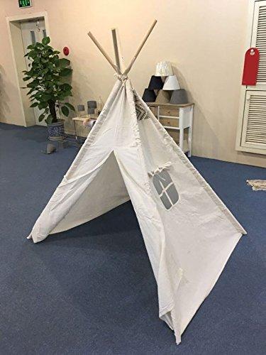Kinder Spielzelt 160 cm - Kinderzimmer Tipi Kinderzelt Wigwam Indianerzelt Zelt