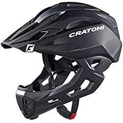 Cratoni - Casco integral Freeride C-Maniac, talla L/XL, color negro mate