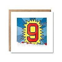 James Ellis - Age 9 Kapow Shakies Birthday Card - PK2674