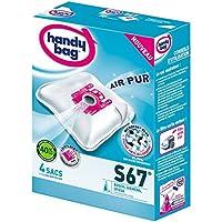 Handy Bag - S67 - 4 Sacs Aspirateurs, pour Aspirateurs Bosch, Siemens et UFESA, Fermeture Hermétique, Filtre Anti-Allergène, Filtre Moteur