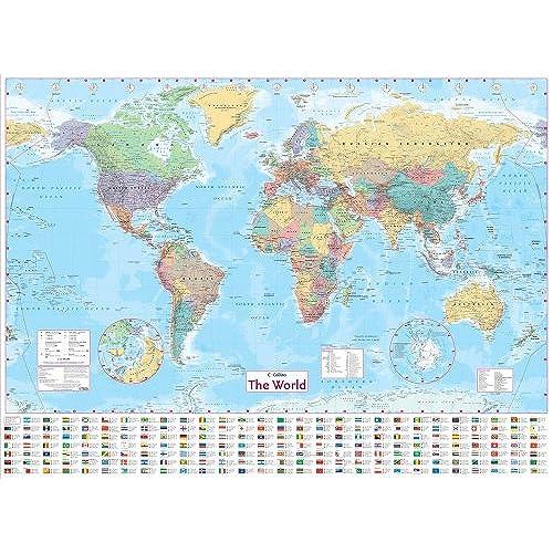 Wall World Map Amazoncouk - Uk and us map