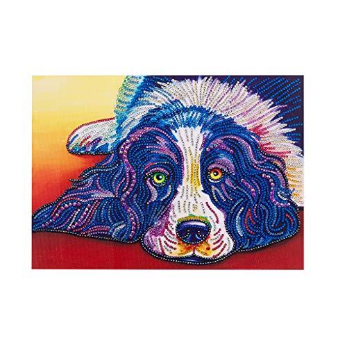 Besttse Dog 5D DIY Special Diamond Painting Stickerei Drill Mosaic Needlework Cross Craft Stitch Kit Home Decor (Halloween-cross Stitch Kits)