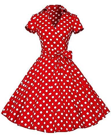 Robe Guinguette - YiLianDa Rétro Vintage Années 50 's Style