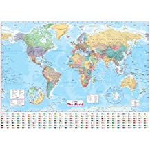 Collins World Wall Paper Map (World Map)