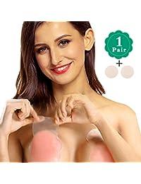 NOVECASA Pezoneras Mejorado Silicona Push Up Breast Lift Sujetadores Adhesivos Invisibles Reutilizable Pezón Levantamiento Cubierta