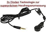 OHRCLIP mit 2x Dioden Technologie zur superpräzisen Herzfrequenzmessung für FINNLO, Cardio Puls Ohrclip für Pulsmessung an FINNLO Geräten / Herzfrequenzmessung Cardio ear clip Puls / Pulsmesser