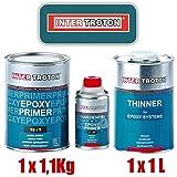 Troton EPOXY GRUNDIERUNG 10:1 Primer 2K Inter EPOXID 1,1kg + 1 x VERDÜNNUNG 1L