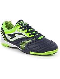 Joma - Zapatillas de Fútbol Sala de Material Sintético para Hombre Nero-Fluo Size: 43.5