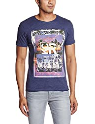 Kenneth Cole Mens T-Shirt (4100523240047_kcrss16ts04_X-Large_Blueberry)
