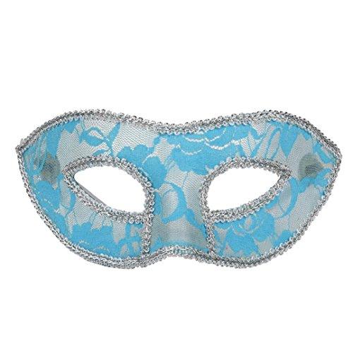 ER Damen Mädchen Halloween Masquerade Prom Masken (Blau) (Einfache Halloween-süßigkeiten Basteln)
