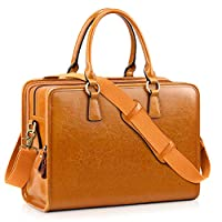 Kattee Womens Leather Briefcase, 14