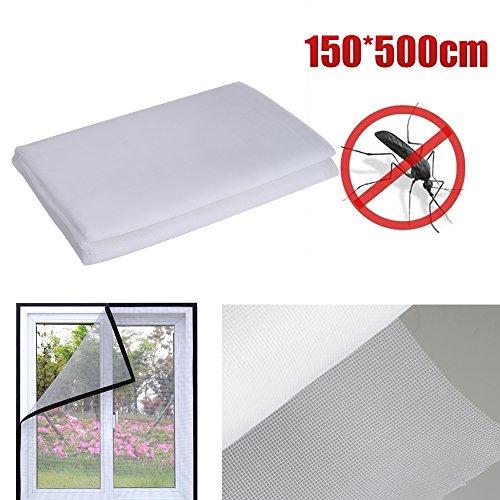 Sinbide zanzariera fenetre anti-insecte porta finestra schermo in maglia rete anti zanzara mosca insect, bianco