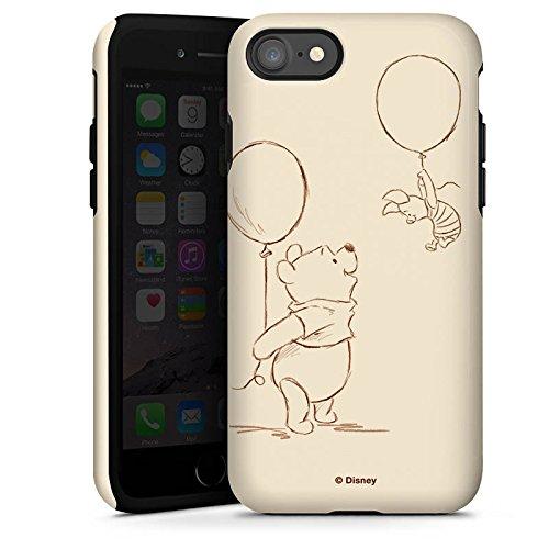Apple iPhone 8 Silikon Hülle Case Schutzhülle Disney Winnie Puuh & Ferkel Merchandise Fanartikel Tough Case glänzend