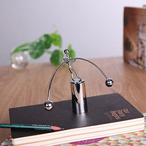Gleichgewicht hinten - Vorne - Liegen - Mini Newtons Wiege - Balance Schwerkraft - Männer Bälle Physik Klassische Wissenschaft Schreibtisch Spielzeug kaufen
