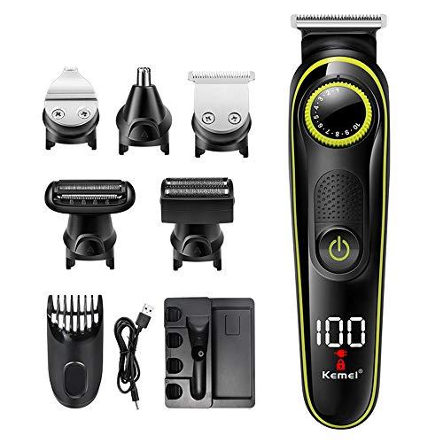 TYUI Haarschneidemaschine Profi Haarschneider Akku Maschine Haare Bartschneider Herren Haartrimmer Männer Elektrische Trimmer Hair Clipper Set für Friseur Wiederaufladbare LCD Display Haarscherer