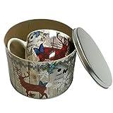 Heimatkuss große Tasse in trachtiger Geschenkbox mit Hirsch-Motiv, perfekte Geschenkidee Mama Oma Freundin