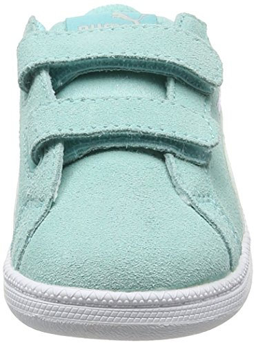 Puma Smash Fun Sd V Inf, Sneakers Basses Mixte Enfant Bleu (Aruba Blue-puma White 08)