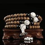 AMA Dichte Alte Material Agarwood Perlen Armband 108 Treue Männer Und Frauen Modelle,B,8 mm