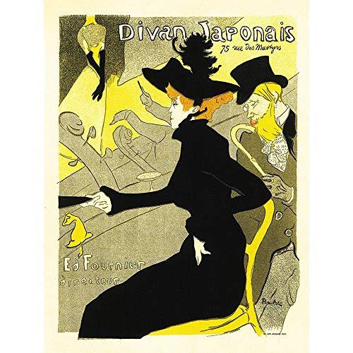 ture Cafe Concert Japanese Paris Toulouse-Lautrec Vintage Art Print Poster Wall Decor Kunstdruck Poster Wand-Dekor-12X16 Zoll ()