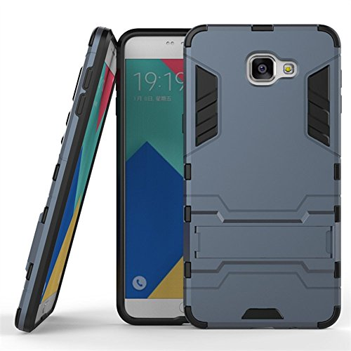 GALAXY J3 Hülle,EVERGREENBUYING Abnehmbare Hybrid Schein SM-J3109 Cases Ultra-dünne Schutzhülle Case Cover mit Ständer für Samsung GALAXY J3 (Gold+Schwarz) Saphir