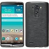 PhoneNatic Silikon Schutzhülle für LG G3 brushed silber