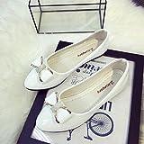 Dragon868 Spring Womens Ladies Flat Shoes, Fashion Bowknot Rhinestone Casual Round Toe Low Heel Shoes