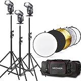 Neewer® TT560 Blitz Speedlite Set für Canon Nikon Panasonic Olympus Fuji Pentax Sigma Minolta Leica und andere SLR Digitale Spiegelreflexkameras SLR Filmkameras, umfasst (3) Neewer TT560 Blitzgerät + (3) Neewer 70,8