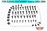 VITCIK Verkleidung Kompletter Schraubensatz für Suzuki GSX 600 750 F Katana 2005 2006 GSX600 750 F Katana 05 06 Motorrad Befestigungsmittel CNC-Aluminiumklammern (Schwarz & Silber)