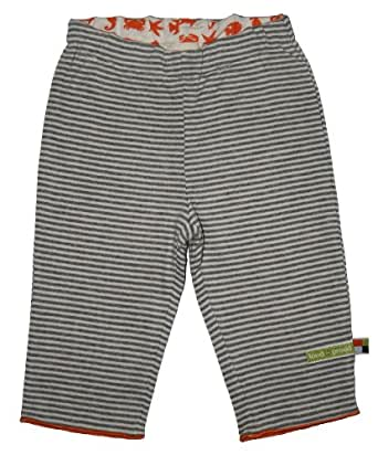 Loud + Proud Unisex Baby Reversible Trousers Organic Cotton for 6 - 12 Months Grey