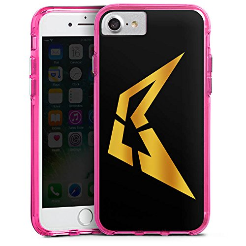 Apple iPhone X Silikon Hülle Case Schutzhülle Visca Barca Fanartikel Merchandise Youtube Bumper Case transparent pink