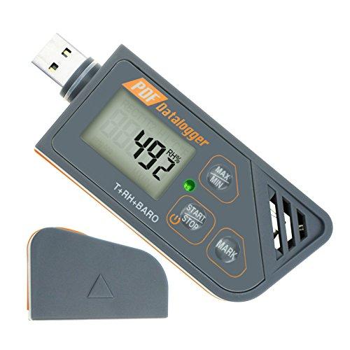 Digital impermeable USB Data Logger humedad Temperatura y presión Barómetro Data Logger Gauge, generar...