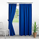 Home Treats Pencil Pleat Curtains Thermal Blackout Curtain, Pencil Pleat. Free Tiebacks