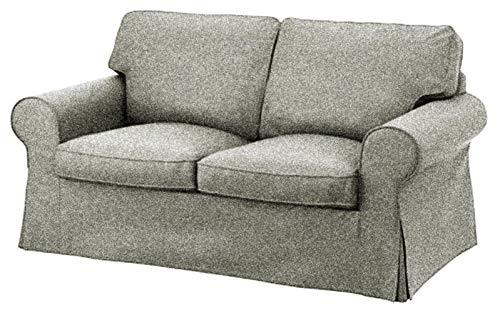 Custom Slipcover Replacement Ektorp 2-Sitzer-Sofa- / Bettbezug, Ersatzbezug für IKEA Ektorp 2-Sitzer-Schläger, hochwertiger Ersatzbezug Polyester Flax