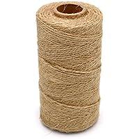 1 pcs 328 pies Natural Yute Twine mejor Arts Crafts - Cordel de regalo Twine Industrial de embalaje Materiales resistente cadena para jardinería aplicaciones