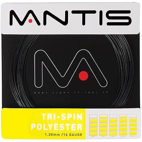 Mantis Tri-Spin poliestere filo Racchetta da Tennis Grip Racchetta String, 16 G 12m
