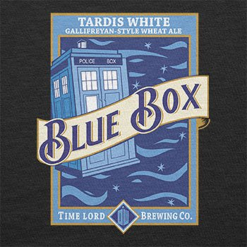 Texlab – Blue Box White Ale – sacchetto di stoffa Nero
