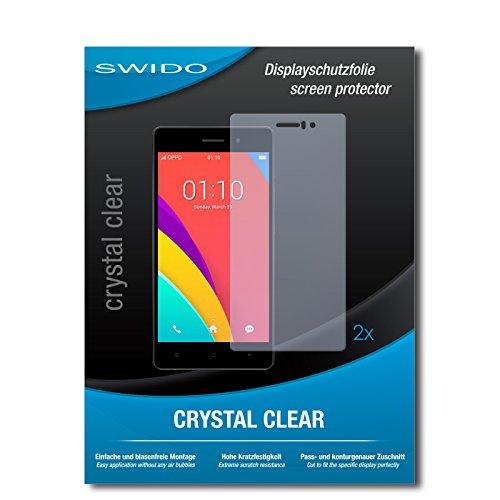 SWIDO Schutzfolie für Oppo R5s [2 Stück] Kristall-Klar, Hoher Härtegrad, Schutz vor Öl, Staub & Kratzer/Glasfolie, Bildschirmschutz, Bildschirmschutzfolie, Panzerglas-Folie
