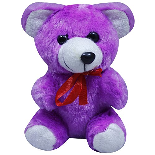 Casotec Cute Teddy Bear Stuffed Soft Plush Soft Toy (14 cm) - Purple  available at amazon for Rs.199