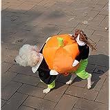 iEFiEL Disfraces Graciosos para Perros Ropa Mascota Cachorro Traje de Fiesta de Perritos Halloween Calabaza