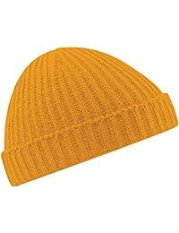 New Beechfield Unisex Retro Fashion Fisherman Trawler Knit Beanie Hat 37f4595c6d44