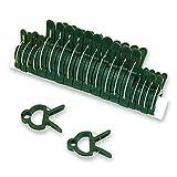 HC-Handel 930239 Pflanzenklemmen Set 20-teilig grün