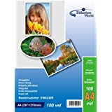 EtikettenWorld 100 hojas papel para foto A4 230 g / qm brillo resistente al agua