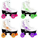 Kingdom, Pattini a Rotelle Vector Quad Roller Skates, Fuchsia Pink, Taglia 13 Child UK