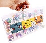 144 pezzi di figure Pokemon (2-3 cm)